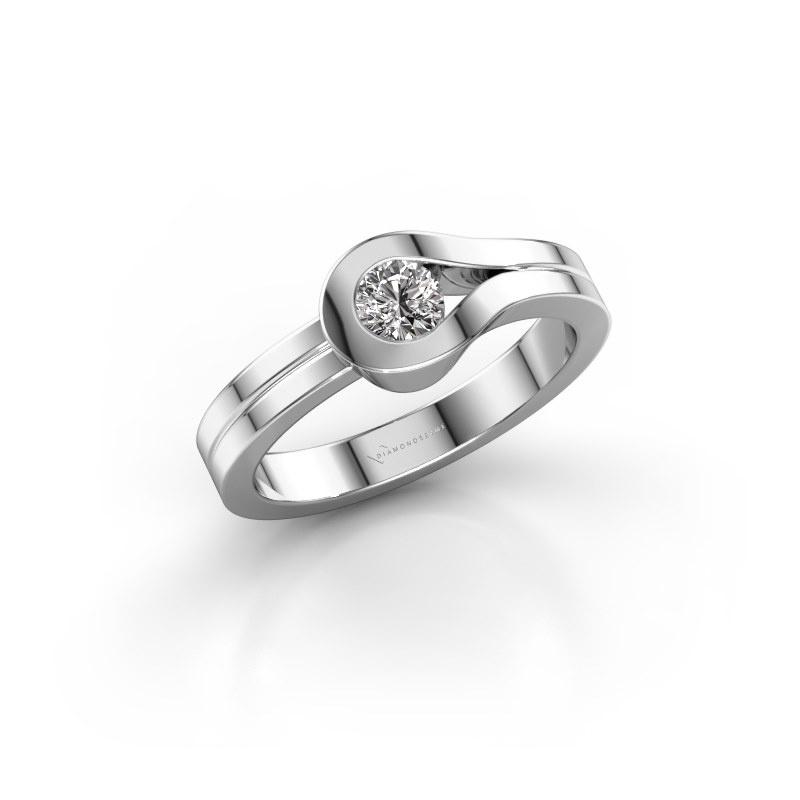 Ring Kiki 925 silver diamond 0.25 crt