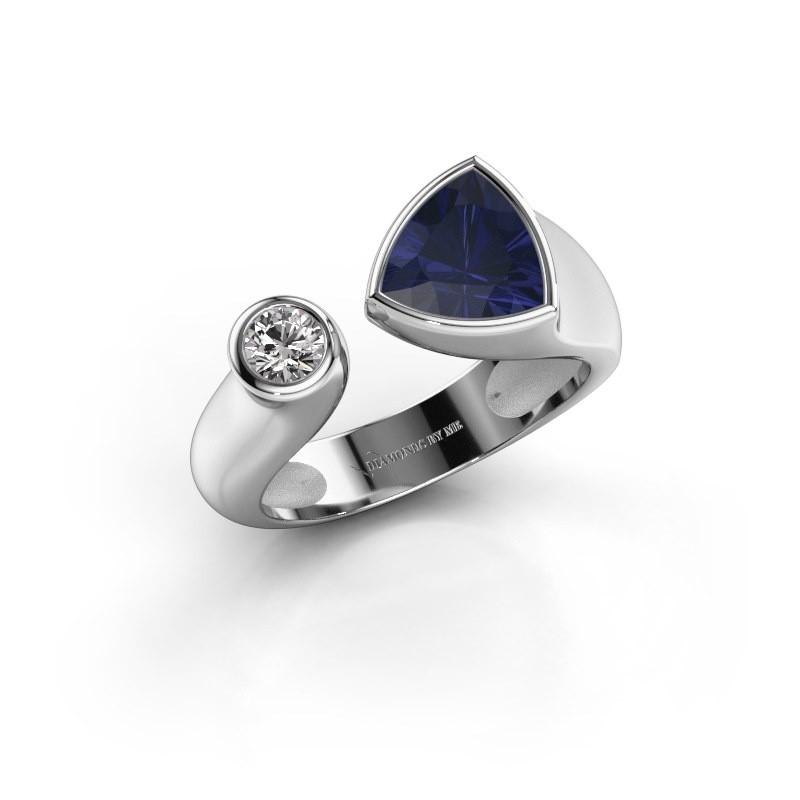 Ring Latisha 950 platina saffier 7 mm