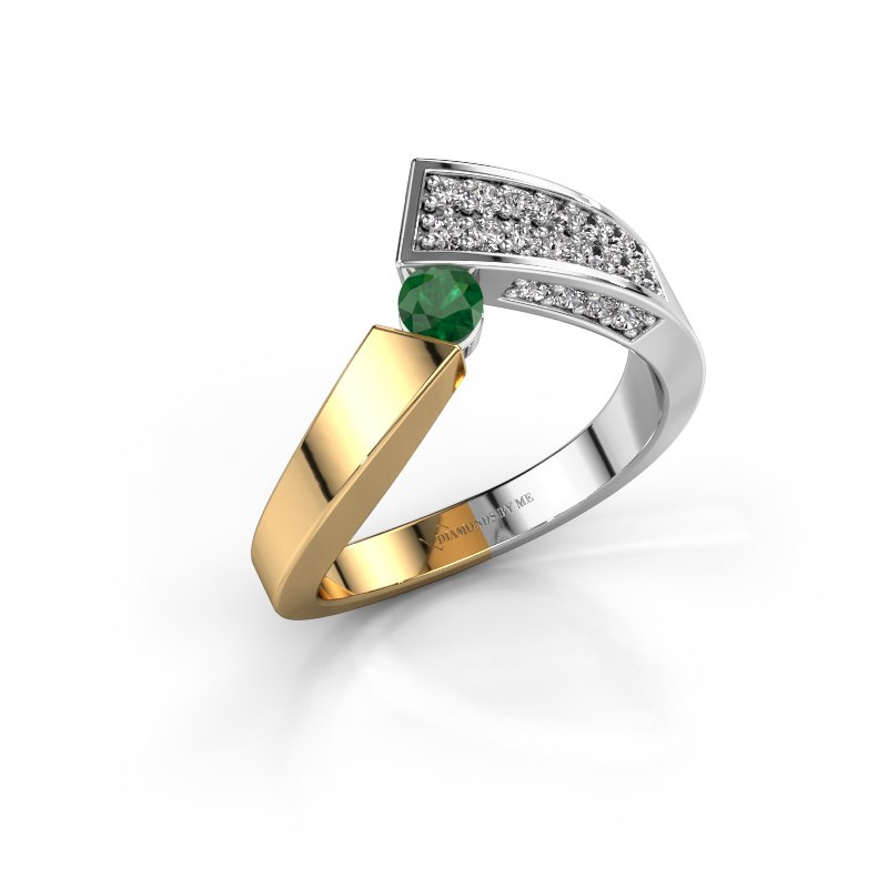 Ring Evie 585 gold emerald 3.4 mm