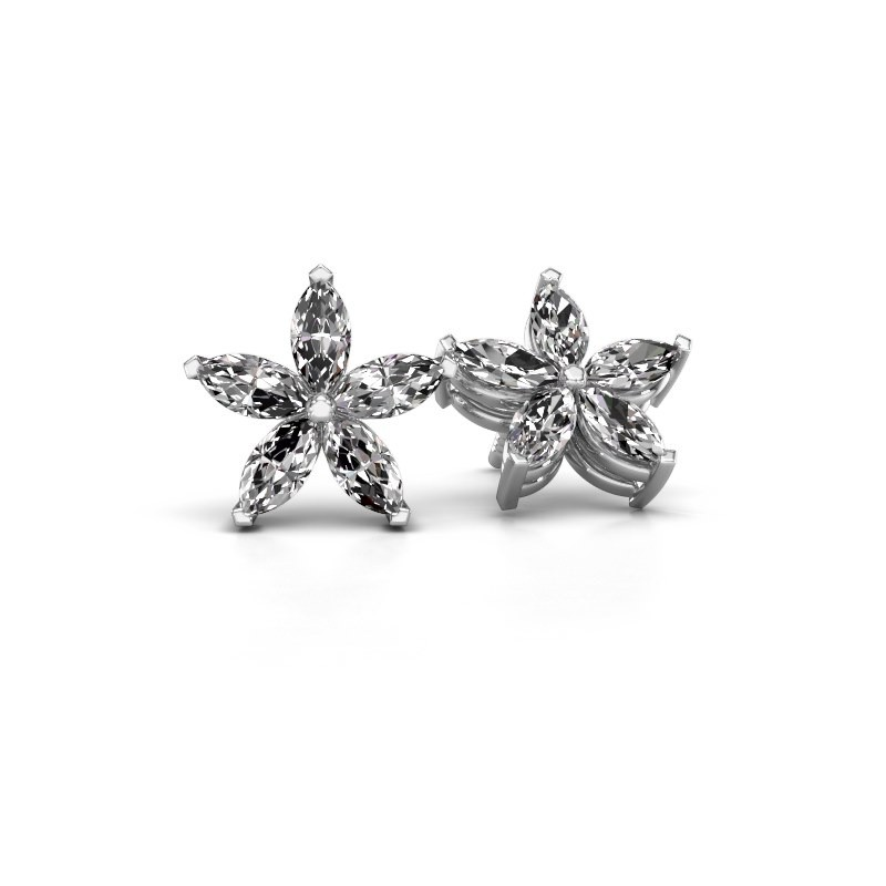 Oorstekers Sylvana 950 platina lab-grown diamant 1.40 crt