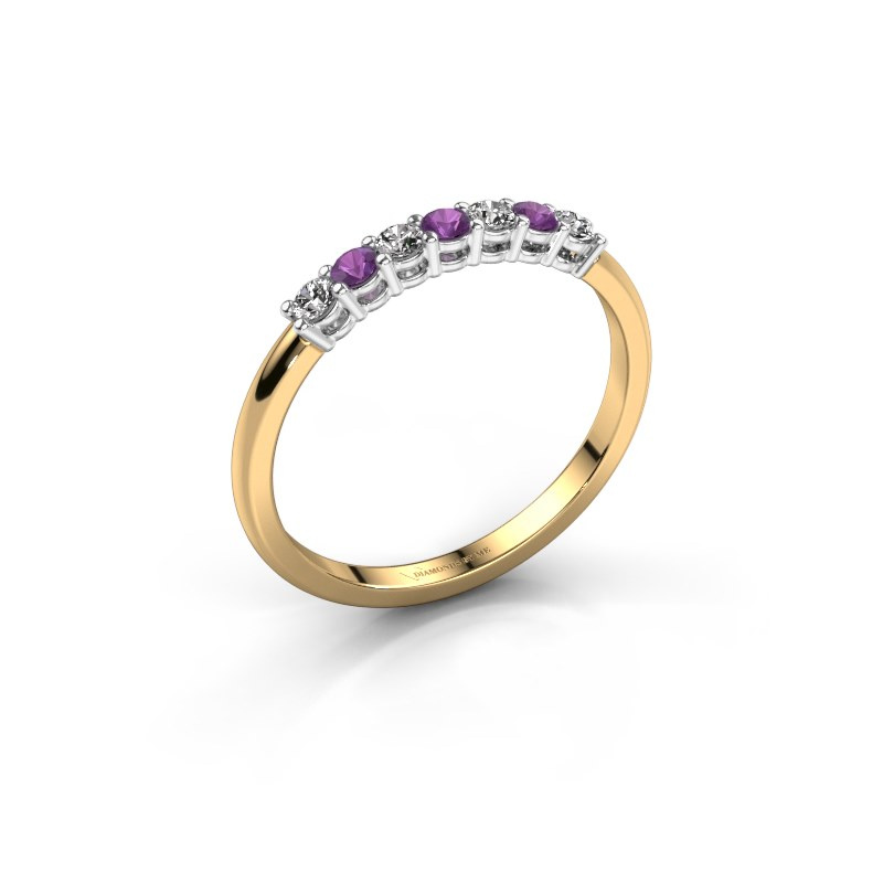 Engagement ring Michelle 7 585 gold amethyst 2 mm