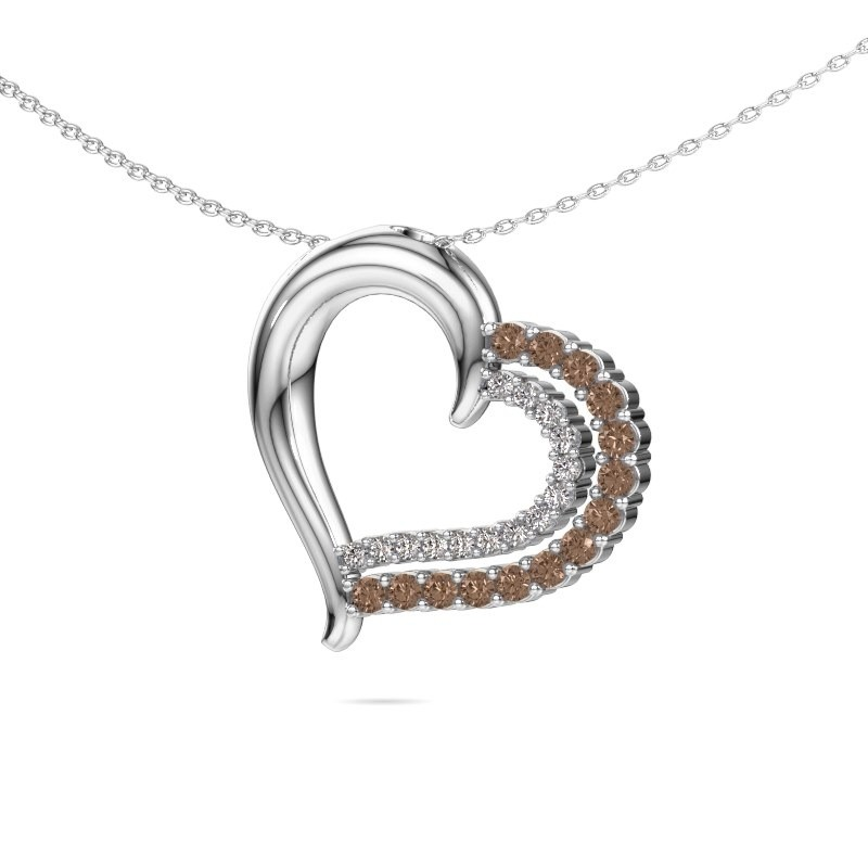 Necklace Kandace 925 silver brown diamond 0.56 crt