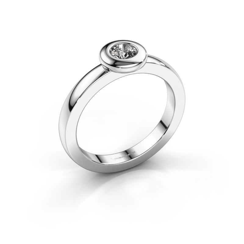 Bague Iris 585 or blanc diamant synthétique 0.25 crt
