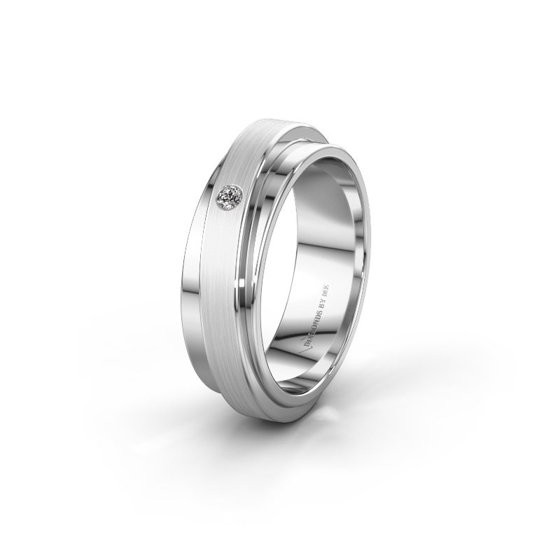 Weddings ring WH2220L16D 585 white gold zirconia ±0.24x0.09in