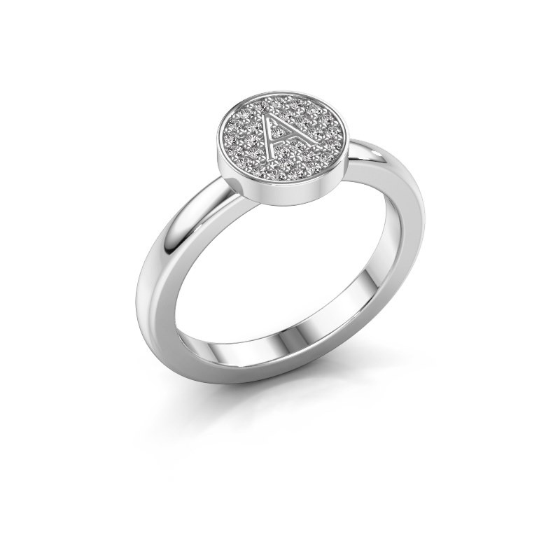 Ring Initial ring 010 925 zilver