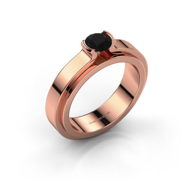 Verlobungsring Jacinda 585 Roségold Schwarz Diamant 0.48 crt