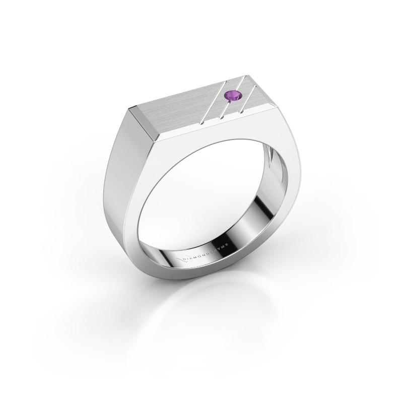 Men's ring Dree 5 950 platinum amethyst 2.4 mm