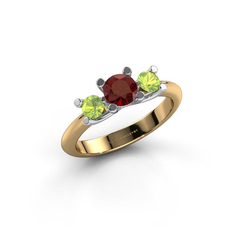 Ring Mirthe 585 gold garnet 5 mm