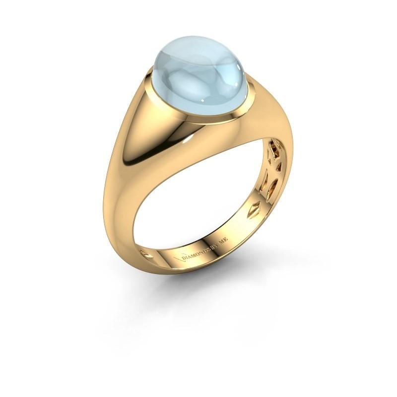 Ring Zaza 375 goud aquamarijn 10x8 mm