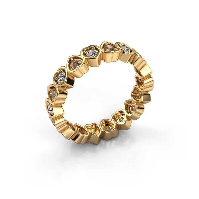 Stackable ring Pleun 585 gold brown diamond 0.54 crt