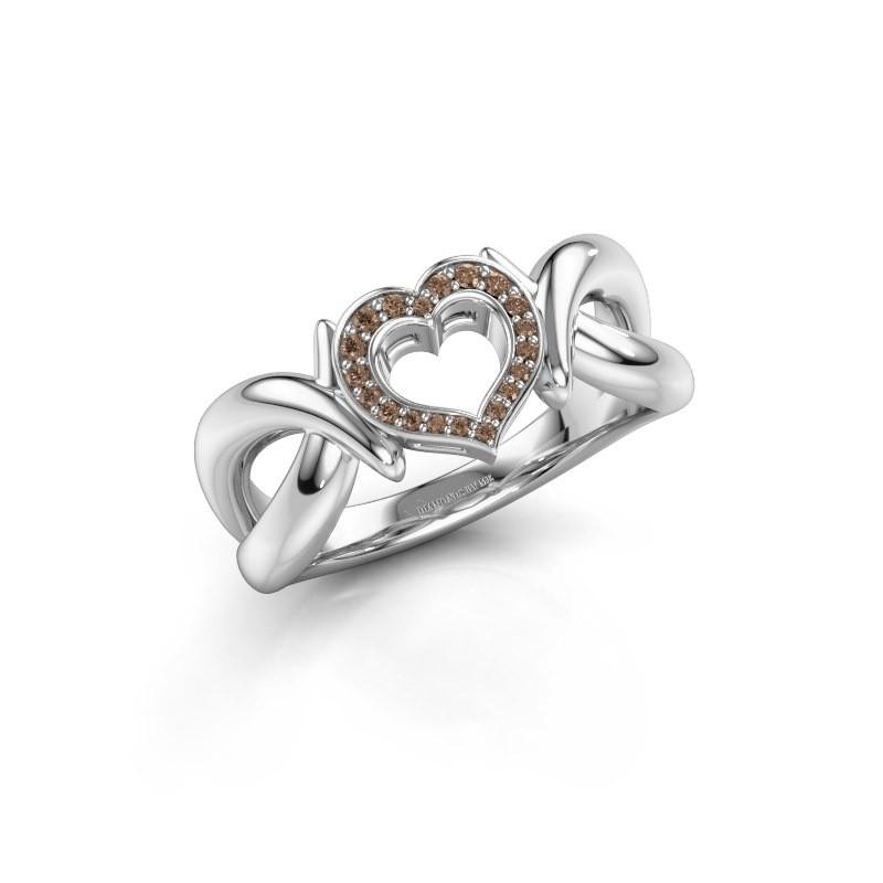 Ring Earlie 1 925 silver brown diamond 0.077 crt
