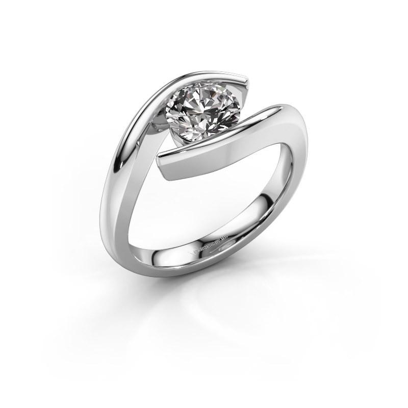 Engagement ring Alaina 585 white gold diamond 1.00 crt