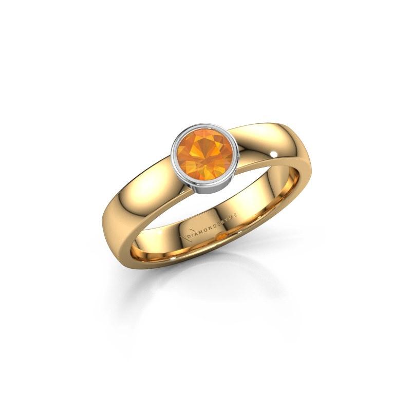 Ring Ise 1 585 goud citrien 4.7 mm