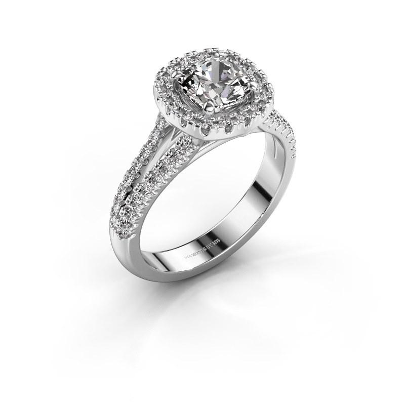 Bague de fiançailles Francesca 950 platine diamant synthétique 1.64 crt