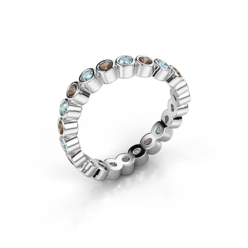 Ring Liz 925 zilver rookkwarts 2 mm
