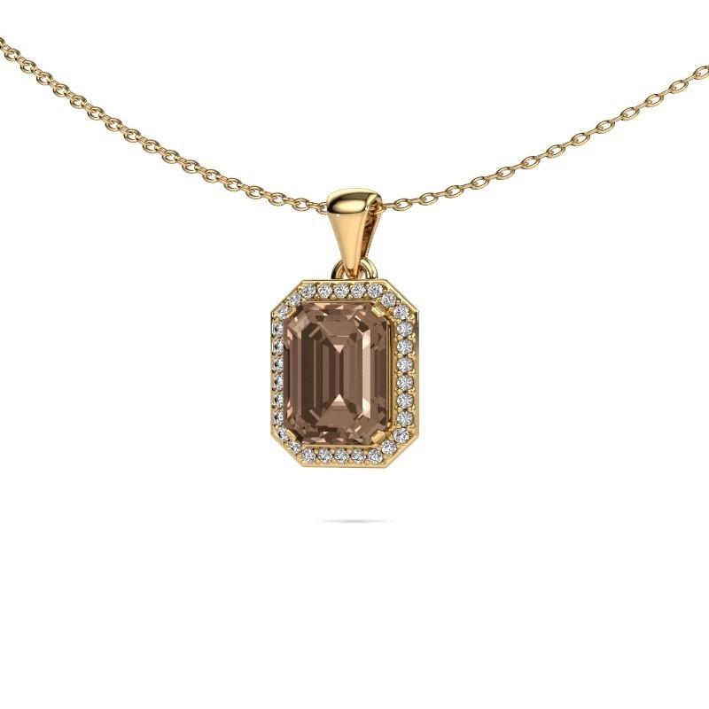 Ketting Dodie 375 goud bruine diamant 2.65 crt