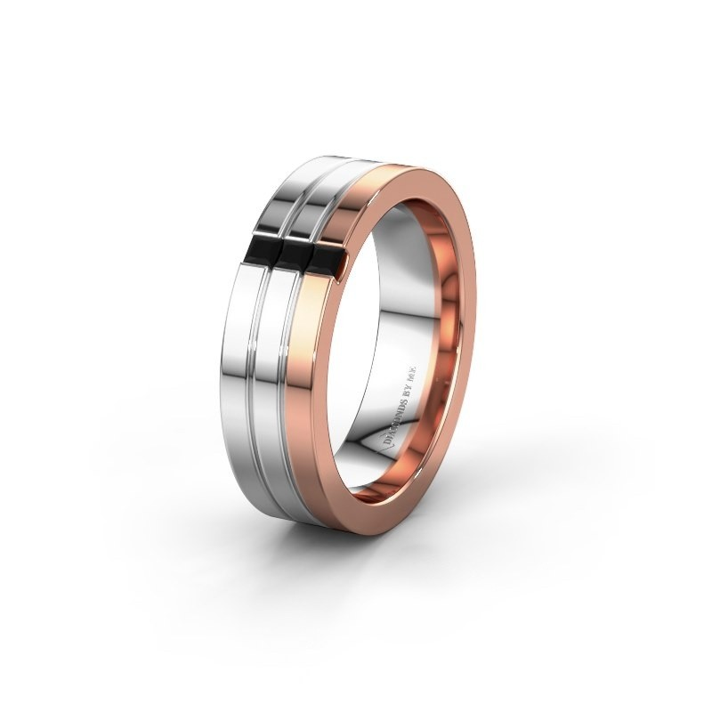 Ehering WH0428L16BP 585 Roségold Schwarz Diamant ±6x2 mm