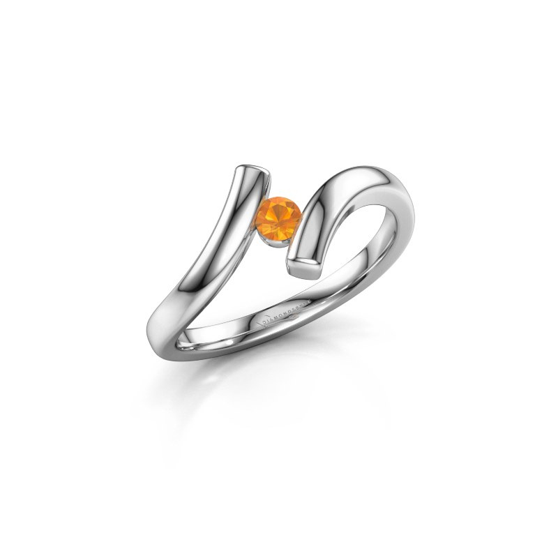 Ring Amy 925 zilver citrien 3 mm
