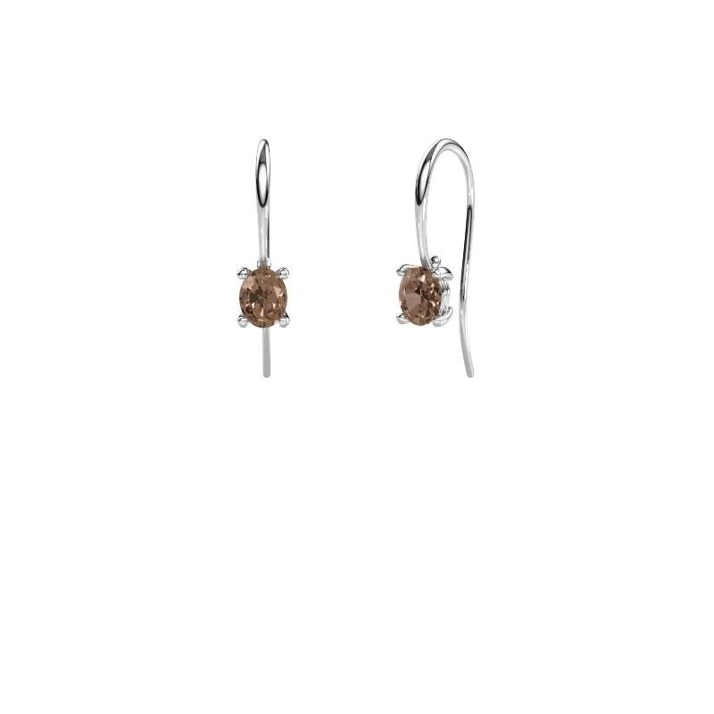 Oorhangers Cleo 950 platina bruine diamant 1.00 crt