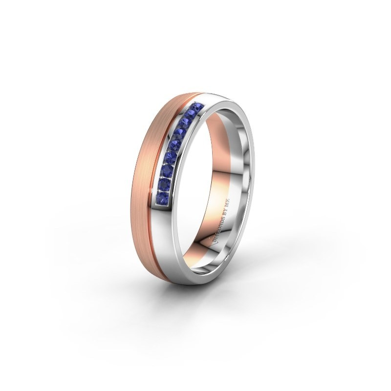 Wedding ring WH0209L25APM 585 rose gold sapphire ±0.20x0.07 in
