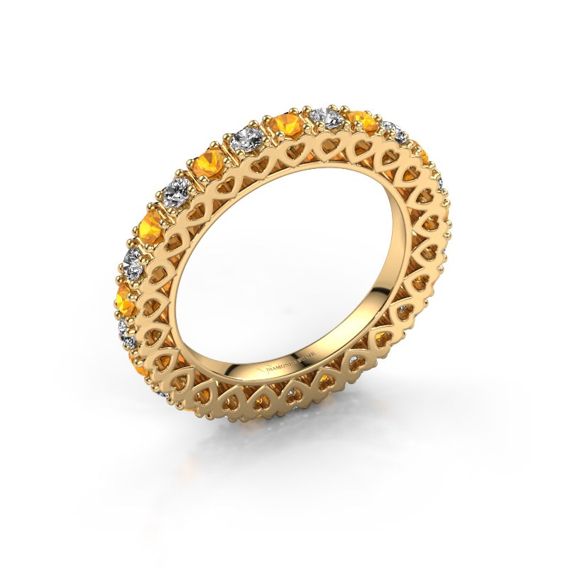 Stackable ring Hailey 585 gold citrin 2.2 mm