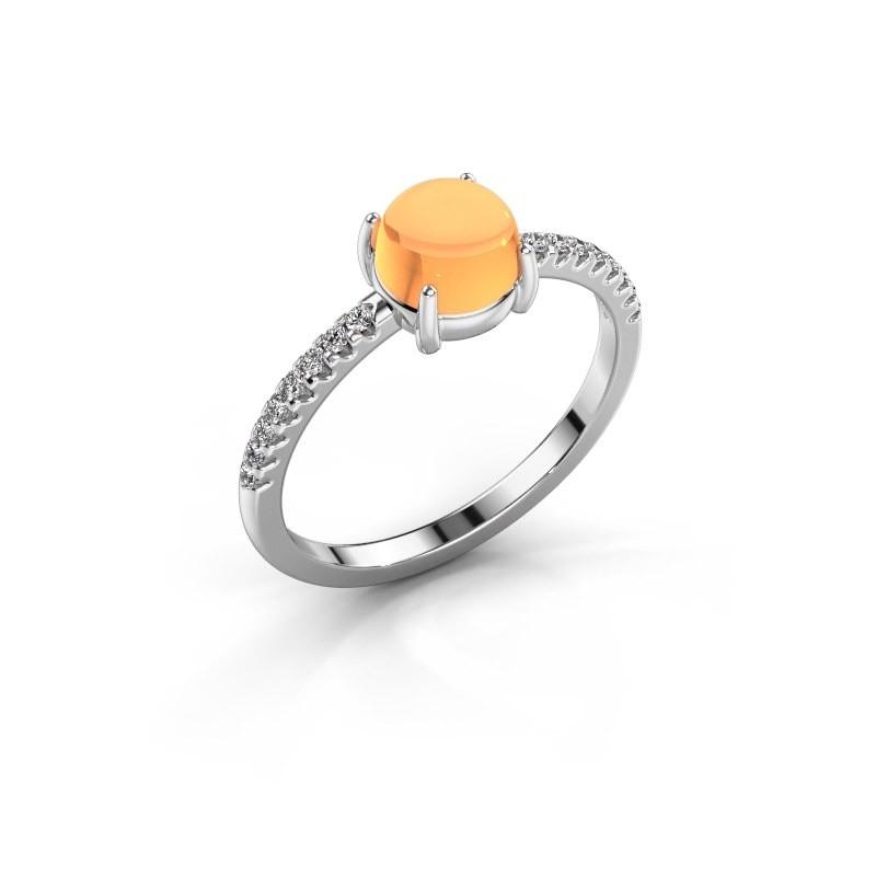 Ring Cathie 925 zilver citrien 6 mm