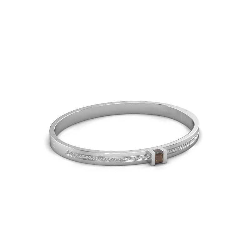 Armband Desire 585 witgoud rookkwarts 4 mm