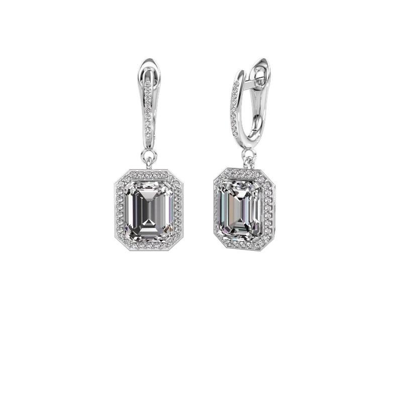 Oorhangers Dodie 2 950 platina diamant 5.345 crt