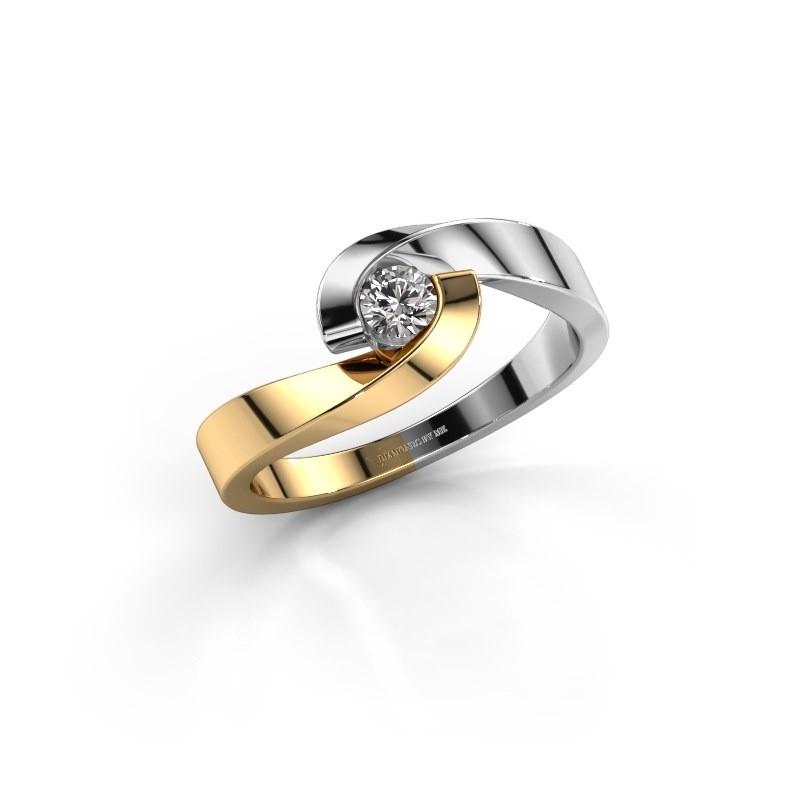 Verlovingsring Sheryl 585 goud diamant 0.20 crt