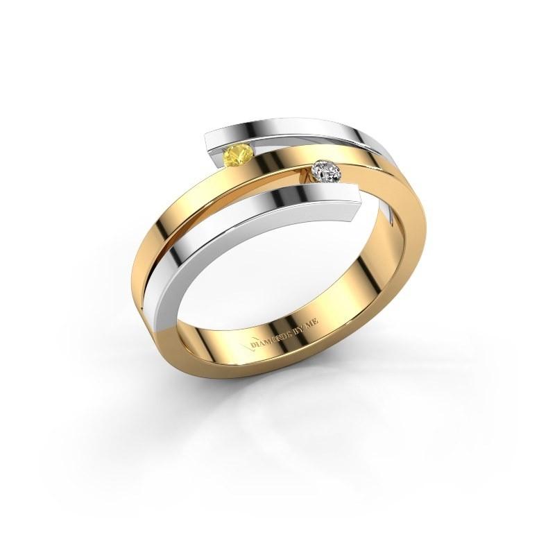 Ring Roxane 585 goud gele saffier 2 mm