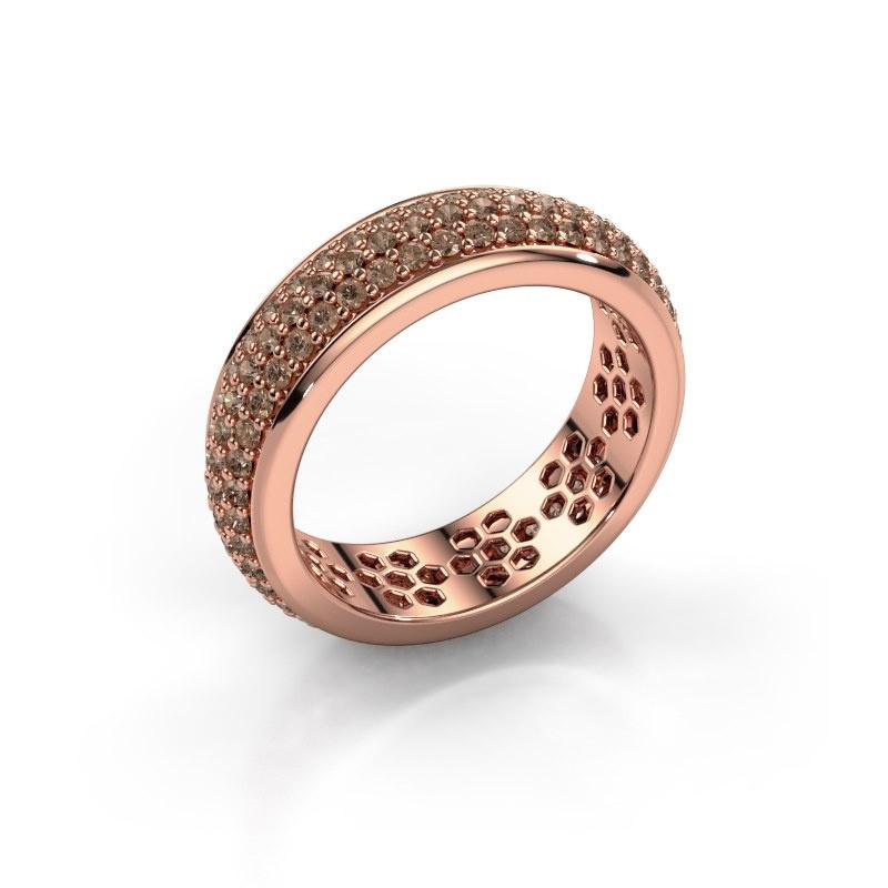 Ring Tara 585 rose gold brown diamond 1.32 crt