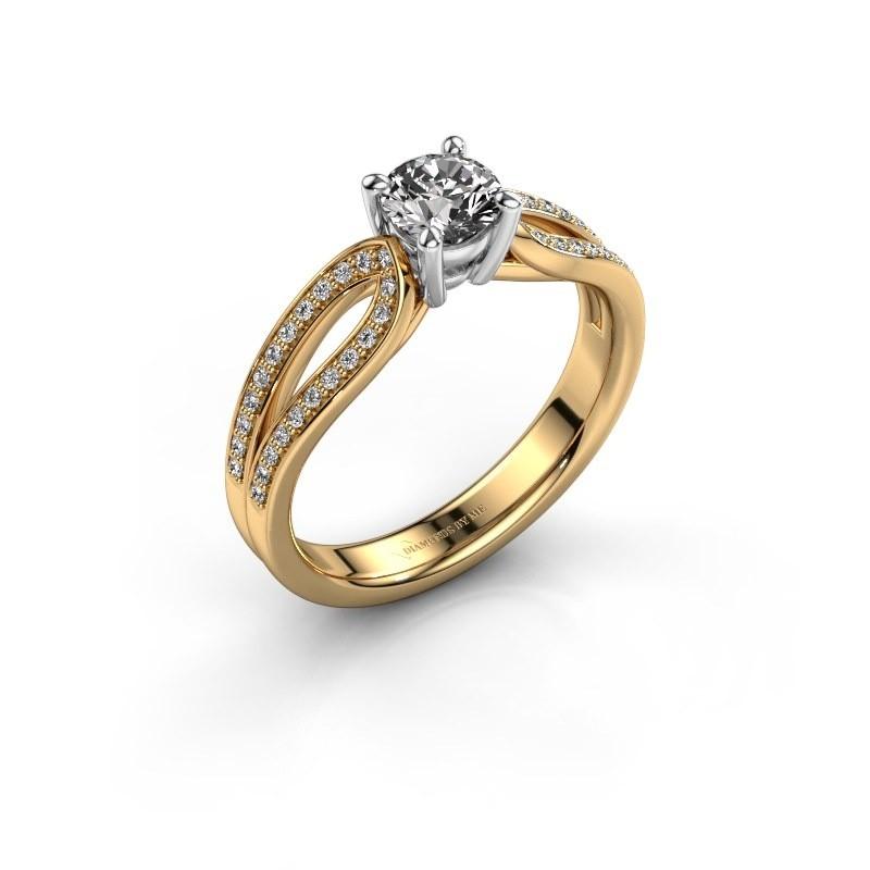 Bague de fiançailles Antonia 2 585 or jaune diamant synthétique 0.73 crt