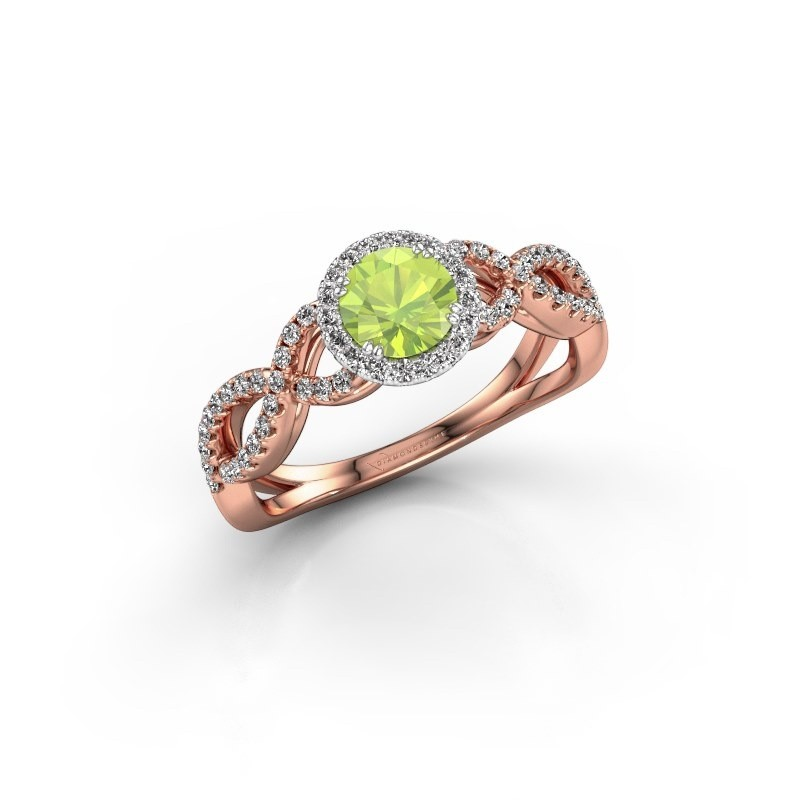 Engagement ring Dionne rnd 585 rose gold peridot 5 mm
