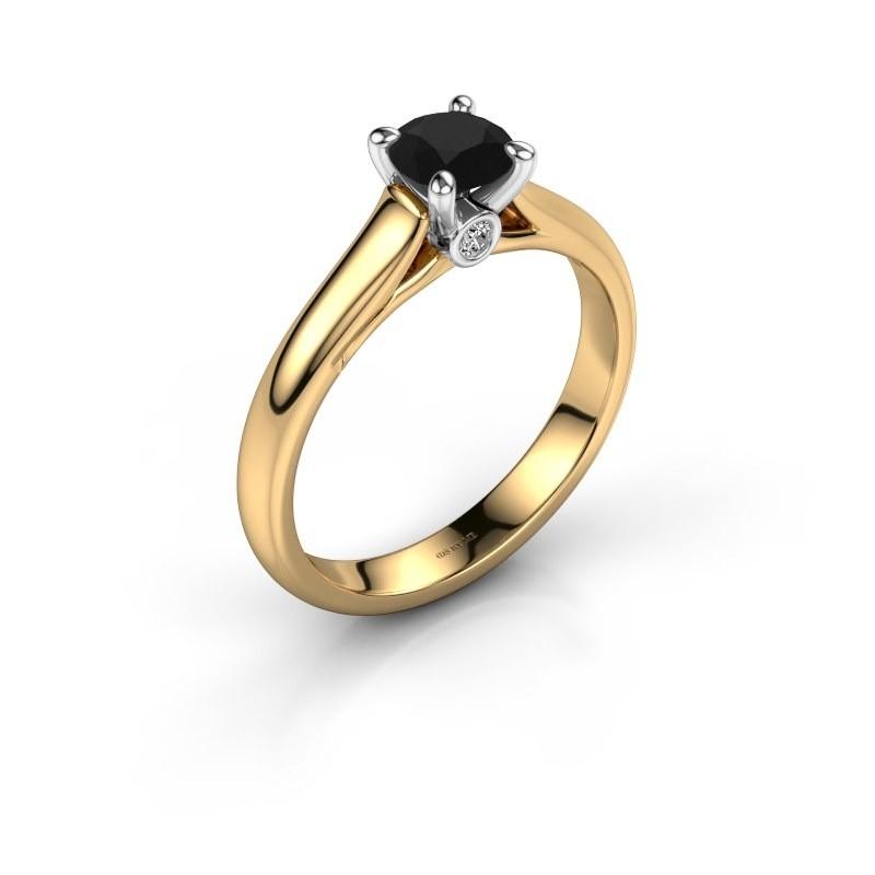 Verlovingsring Valorie 1 585 goud zwarte diamant 0.60 crt