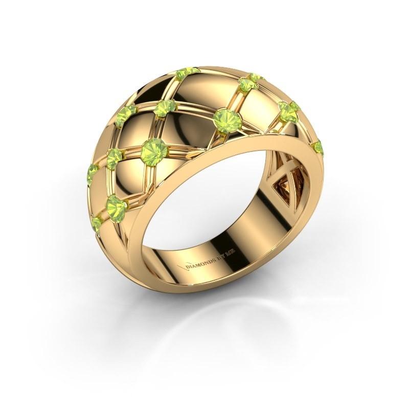 Ring Imke 375 Gold Peridot 2.5 mm