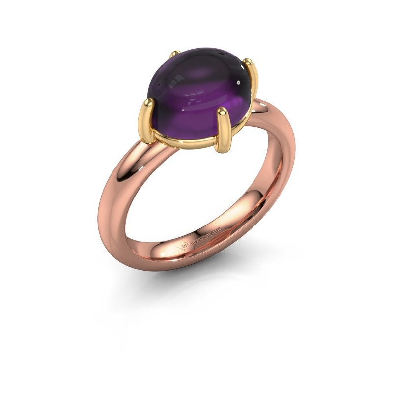Ring Melodee 585 rose gold amethyst 10x8 mm