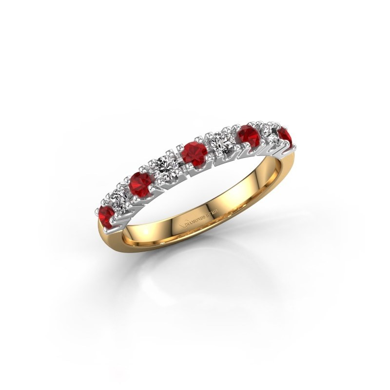 Engagement ring Rianne 9 585 gold ruby 2.4 mm