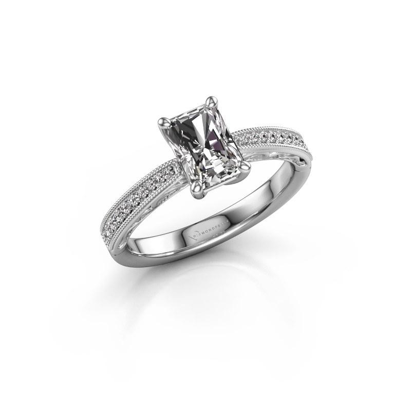 Verlovingsring Shonta RAD 950 platina lab-grown diamant 1.13 crt