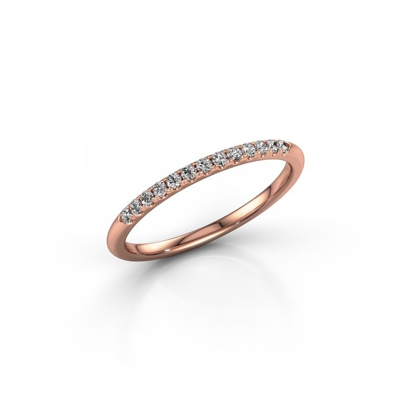 Stackable ring SR10B6H 375 rose gold lab grown diamond 0.168 crt