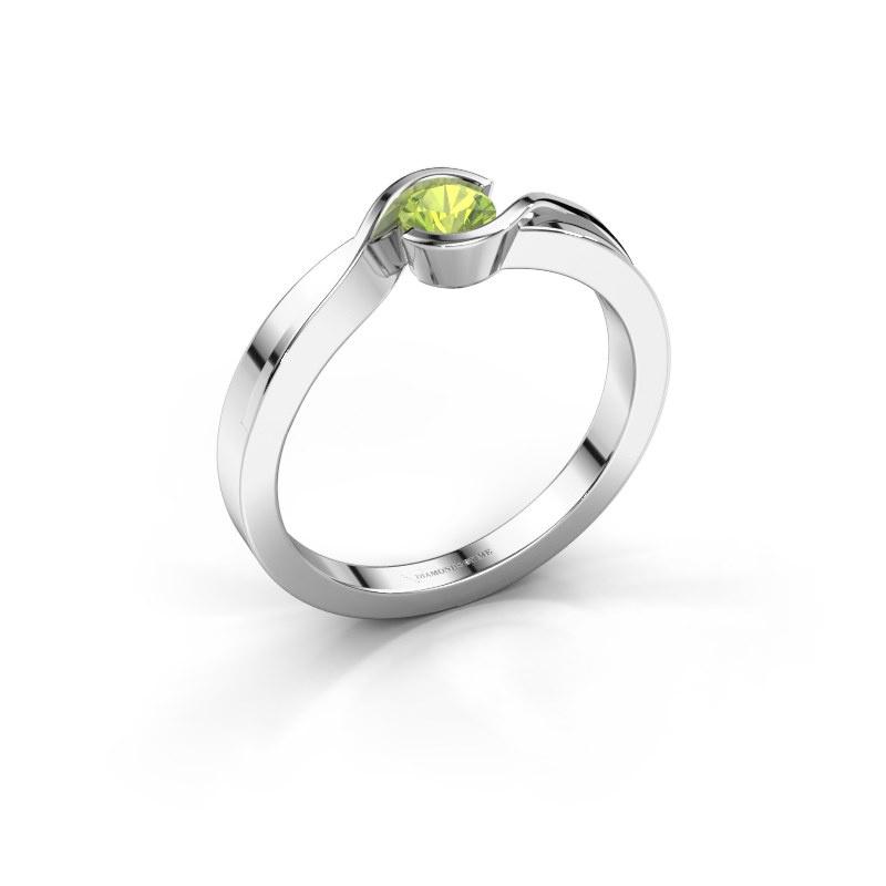 Ring Lola 585 white gold peridot 4 mm