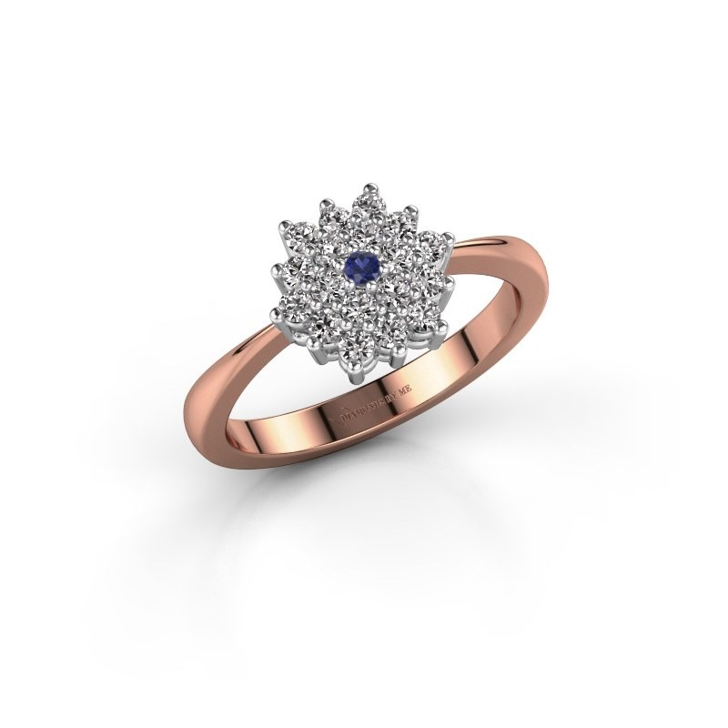 Engagement ring Vickey 1 585 rose gold sapphire 1.8 mm