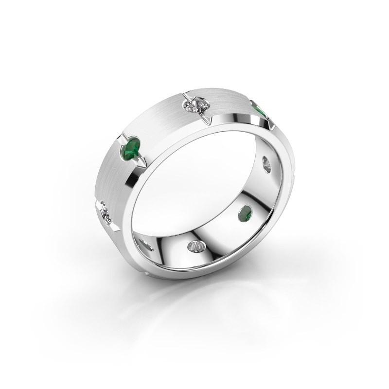 Herren ring Irwin 925 Silber Smaragd 2.7 mm