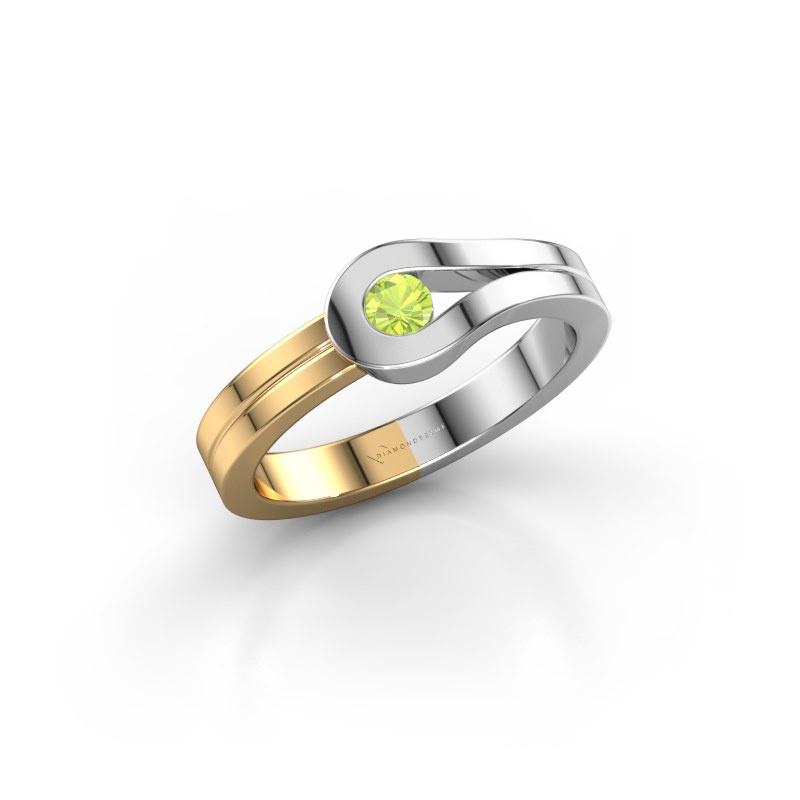 Ring Kiki 585 Weißgold Peridot 3 mm