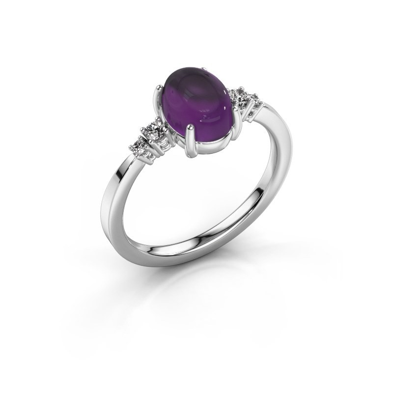 Ring Jelke 925 silver amethyst 8x6 mm