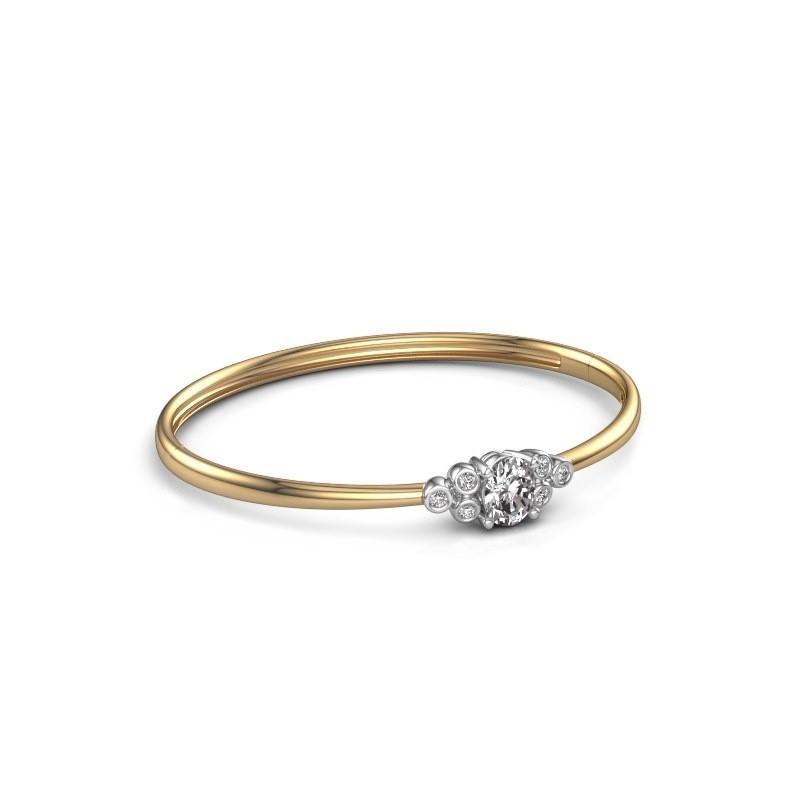 Slavenarmband Lucy 585 goud lab-grown diamant 1.27 crt