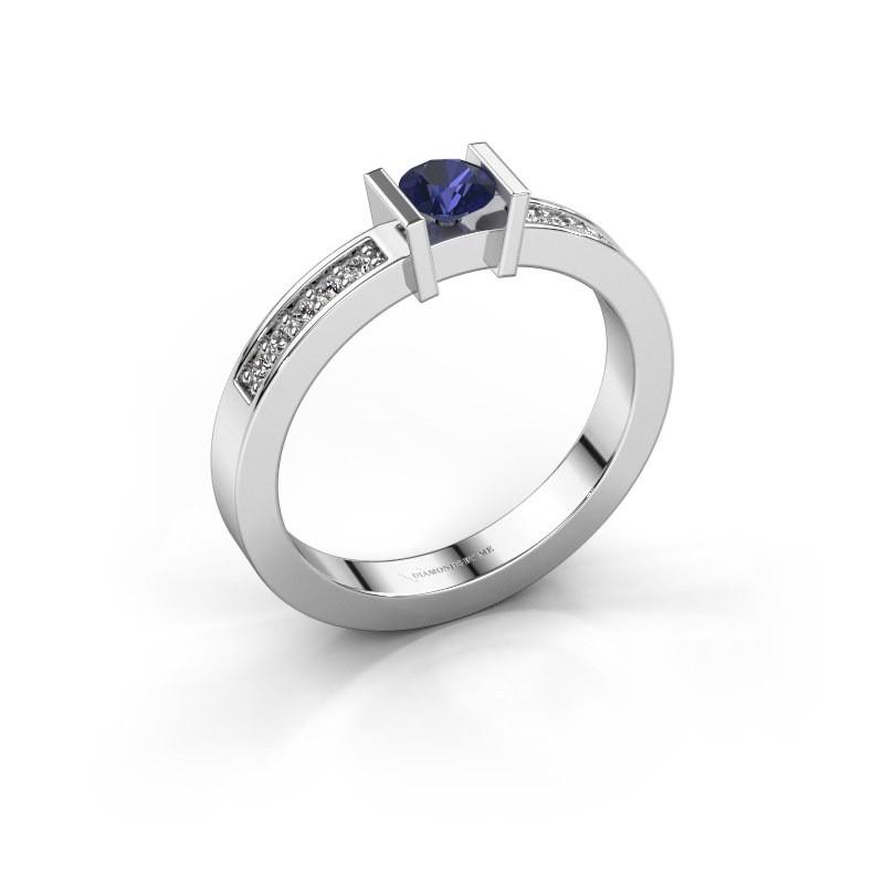 Engagement ring Maryam 585 white gold sapphire 4 mm