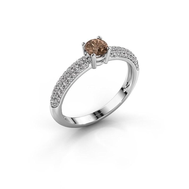 Verlobungsring Marjan 585 Weißgold Braun Diamant 0.662 crt