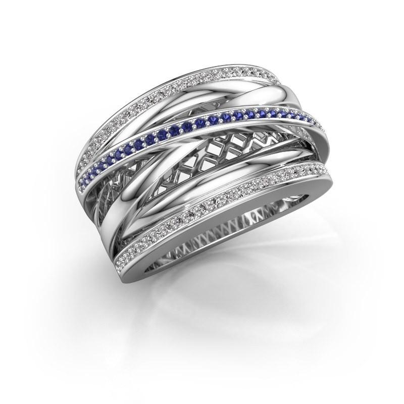 Ring Tabita 950 platina saffier 1 mm