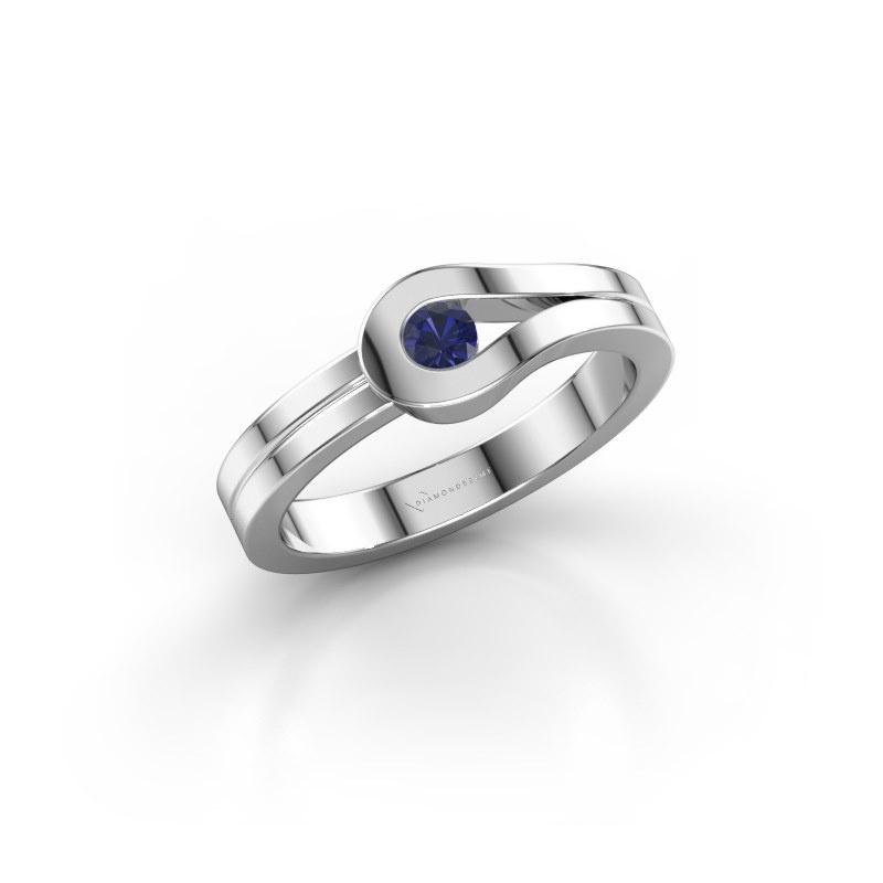 Ring Kiki 925 silver sapphire 3 mm