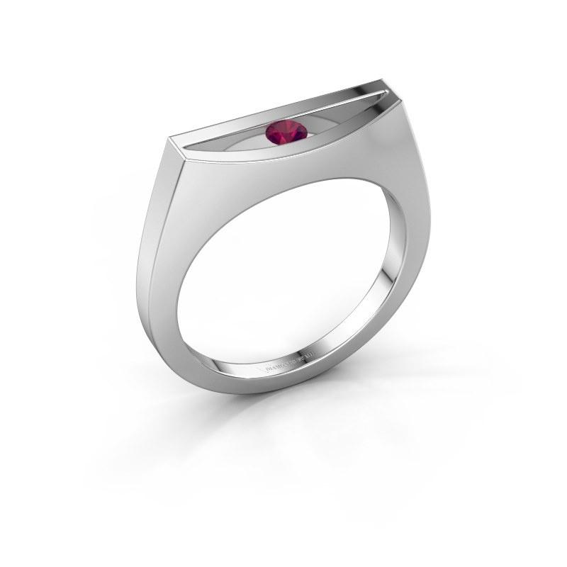 Ring Milou 950 platinum rhodolite 3 mm